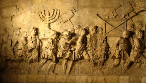 תאור החורבן בשער טיטוס