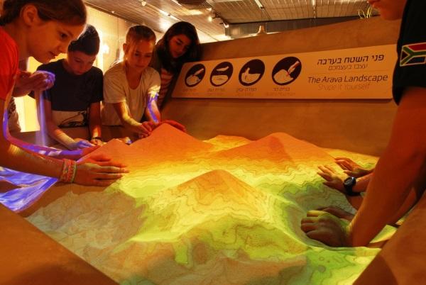 מרכז ויידור, שולחן חול אינטראקטיבי