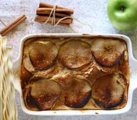 לזניה עם גבינה מתוקה ותפוחי עץ בניחוח קינמון צילום: יחצ ברילה