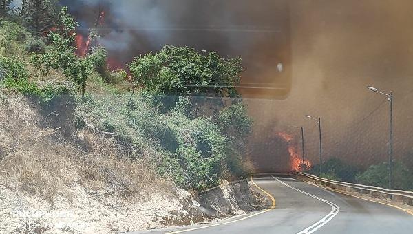 גל שריפות ברחבי הארץ. השריפה סמוך לירושלים