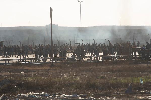 פעילות טרור בחסות הפגנות אלימות ברצועת עזה