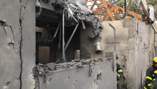 הבית שנפגע בשרון