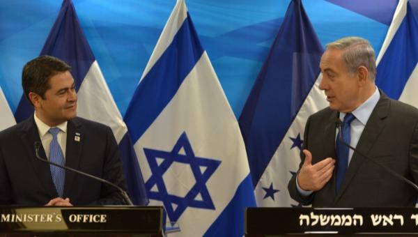 נתניהו והרננדס בביקורו בישראל