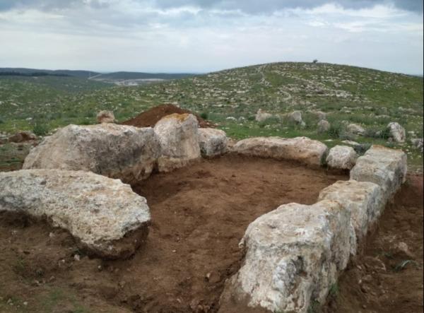 שרידי המגדל שנתגלה