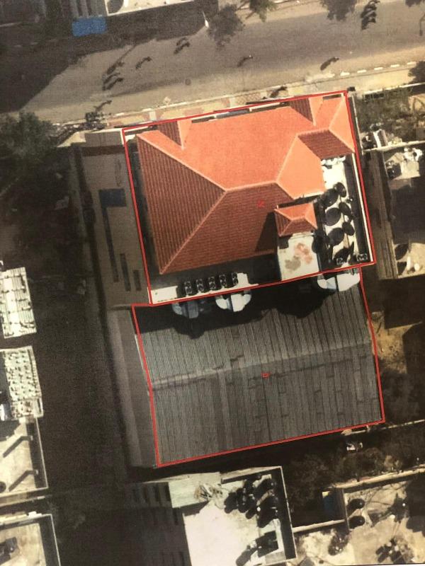 בניין הטלוויזיה אל אקצא לפני שנהרס