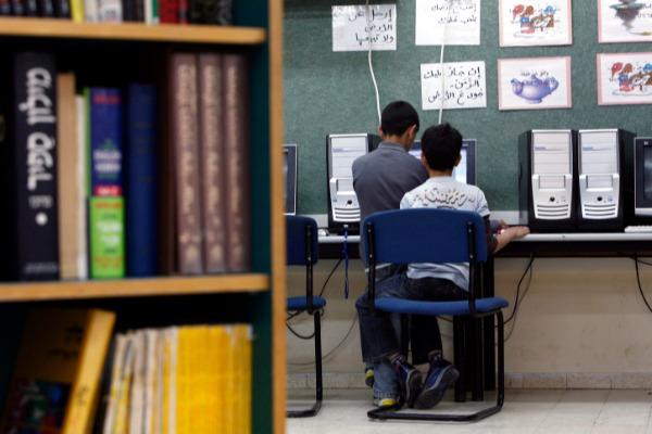 תלמידים בבית ספר ערבי. למצולמים אין קשר לכתבה