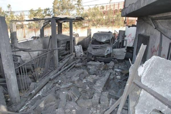 """רכב שנהרס מהפצצת צה""""ל"""