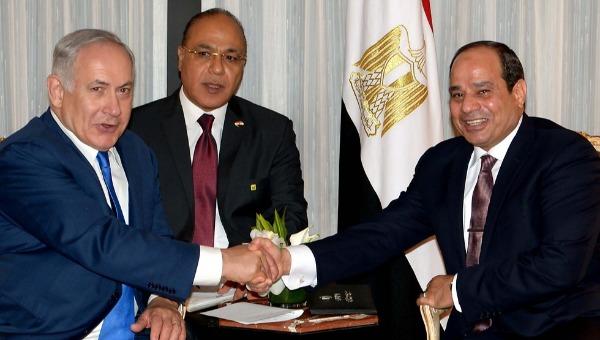 נשיא מצרים א-סיסי עם נתניהו. ארכיון