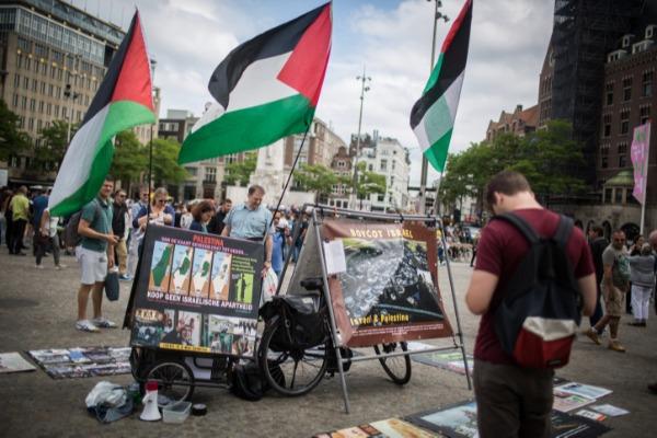 דומה לפעילות טרור? הפגנת תומכי BDS