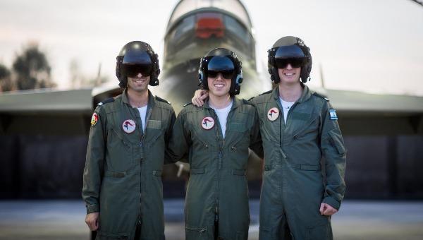 שלושת בוגרי מעלי גלבוע מימין לשמאל. יאיר, אילן ויובל