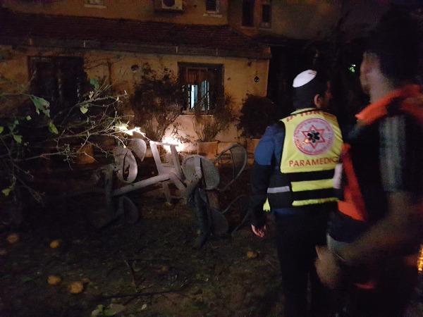 זירת הנפילה באשקלון, בו נהרג אזרח ישראלי