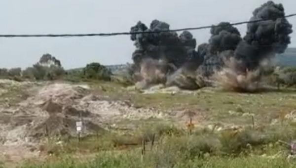 פיצוץ המוקשים בקרני שומרון