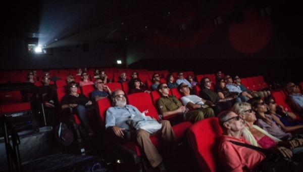 אילוסטרציה. צופים באולם קולנוע