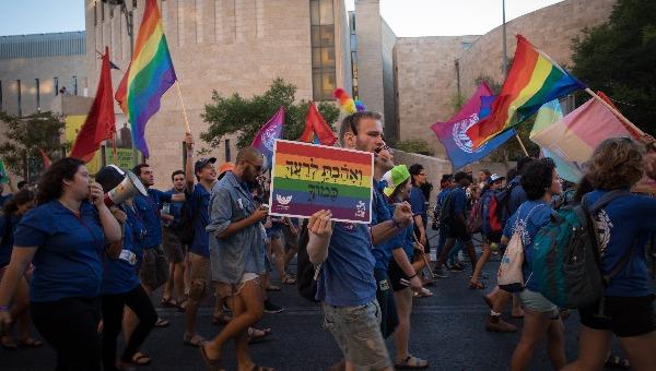 מצעד הגאווה בשנה שעברה בירושלים