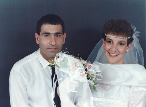 שולי ומשה ביום חתונתם