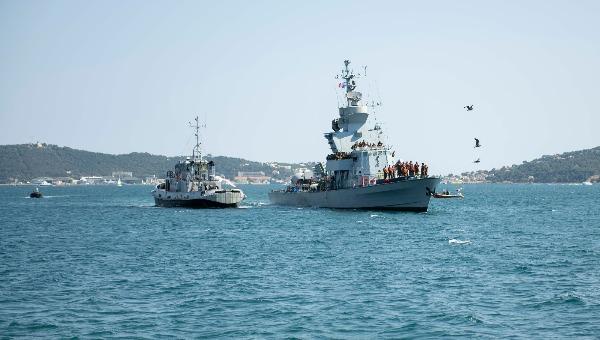 התרגיל המשותף של חיל הים והצי הצרפתי