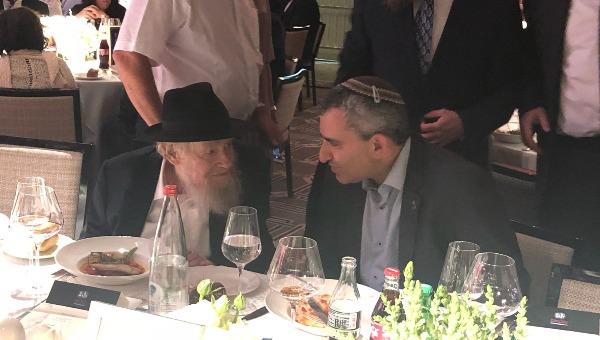הרב שטיינזלץ והשר אלקין בערב הגאלה