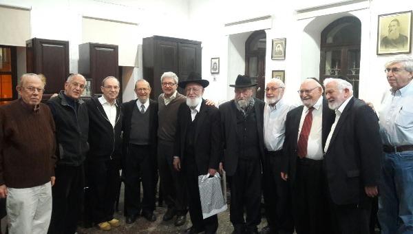 מפגש תלמידי מרכז הרב בבית הרב קוק