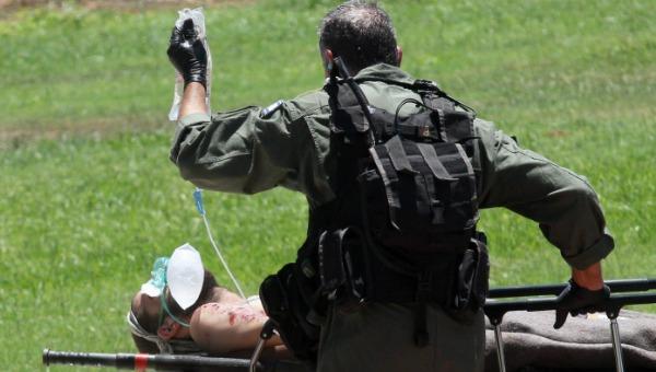 תמונת ארכיון. פינוי חייל פצוע