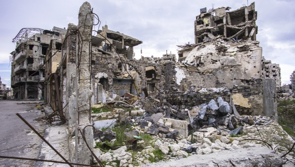 הריסות בעיר חומס, סוריה