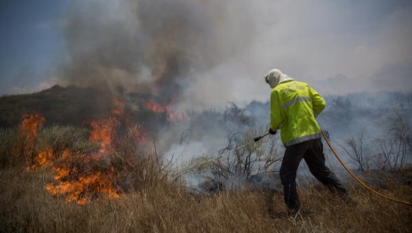 28 שריפות פרצו היום בעוטף עזה