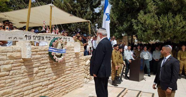 סגן השר בן דהן בטקס יום הזיכרון באופקים