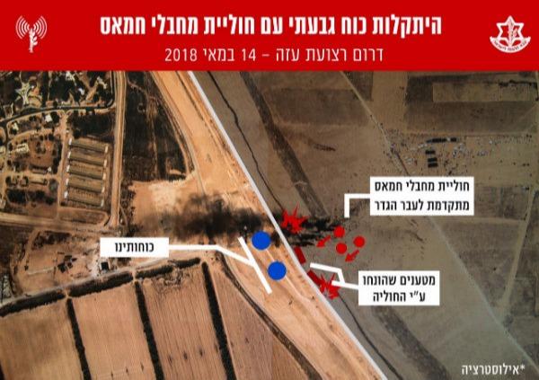 צילום אווירי של מרחב האירוע מהתקלות כוח גבעתי עם חוליית מחבלי חמאס
