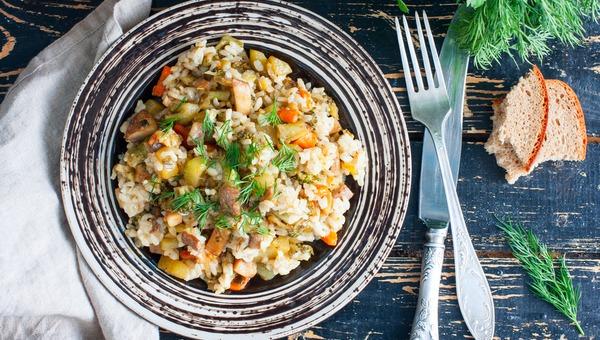 אורז עם ירקות