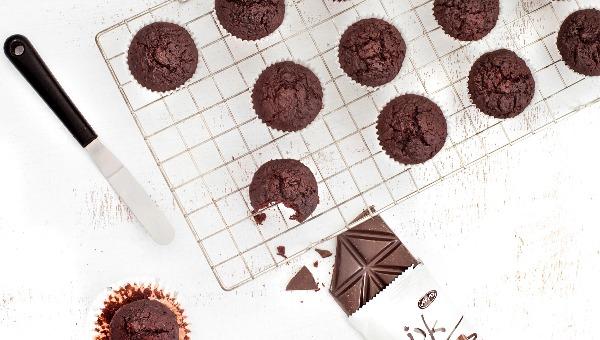 מאפינס שוקולד עם סלק