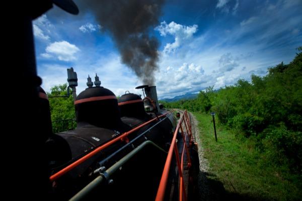 רכבת קיטור בפעולה