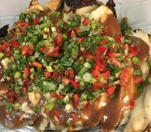 חציל קלוי עם ירקות