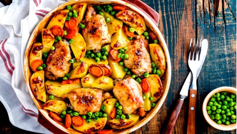 נתחי עוף בתנור