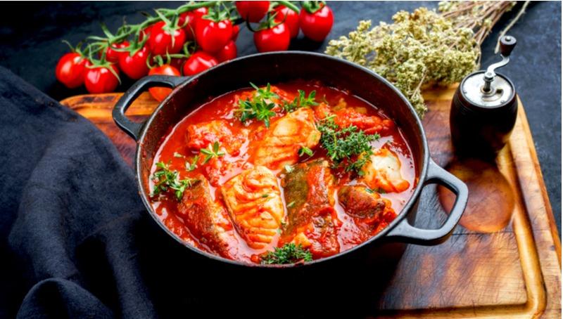 פילה דג ברוטב עגבניות מרוקאי