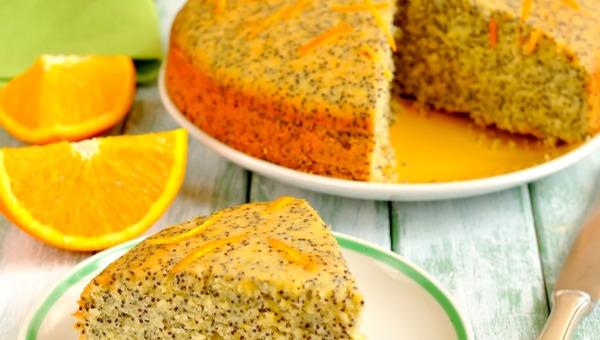 עוגת פרג ותפוזים