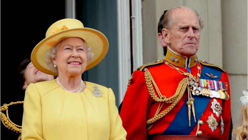 הנסיך פיליפ והמלכה אליזבת