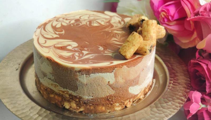 עוגת במבה, נוגט ושוקולד
