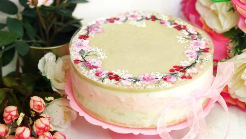 עוגת גבינה קרה בציפוי שוקולד לבן