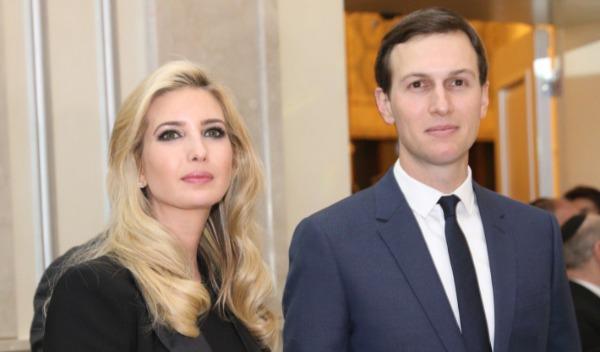 בני הזוג קושנר - טראמפ בביקורם בארץ