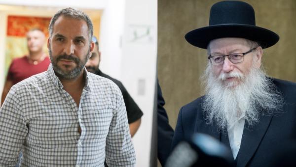 סגן שר הבריאות יעקב ליצמן, וראש עיריית טבריה רון קובי