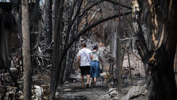 ללא בית | השריפה במבוא מודיעים