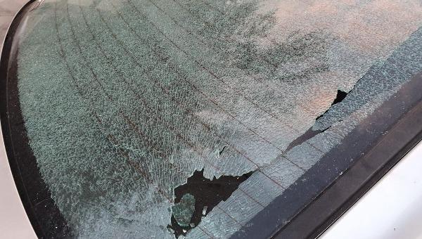 הרכב של אחד העדים שנופץ ביד בנימין