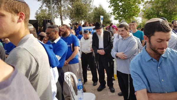 הרב צבי טאו בעצרת נגד מצעד הגאווה בירושלים