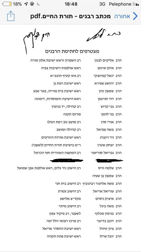 רשימת הרבנים