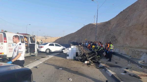 תאונת דרכים קטלנית ליד מצפה יריחו