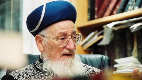 """הרב מרדכי אליהו זצ""""ל"""