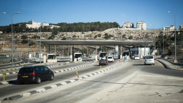 המחסום בכביש המנהרות