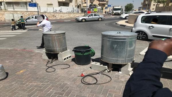 עמדה לא חוקית בשכונת גבעת שאול ירושלים שהוקמה בשנה שעברה ונסגרה על ידי מפקחי המשרד