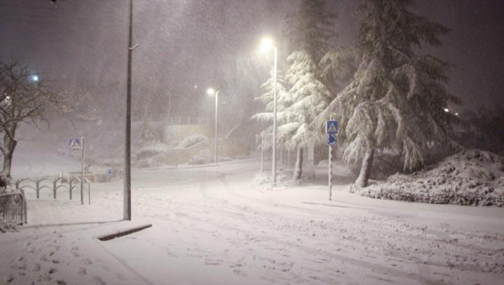 שלג באפרת, הערב