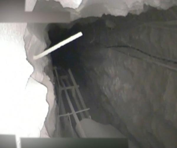 פנים המנהרה החדשה שנחשפה