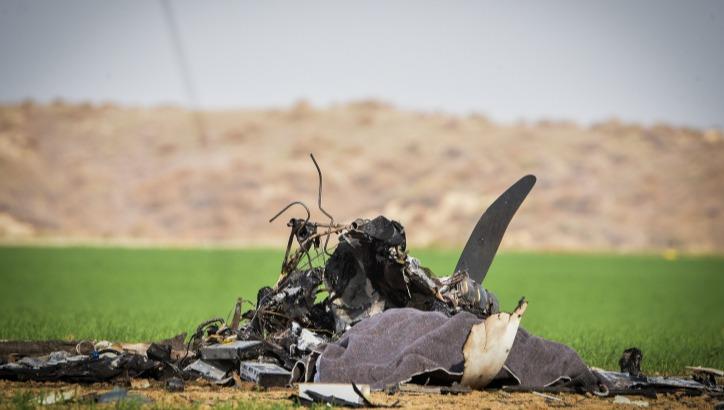 שרידי המטוס שהתרסק